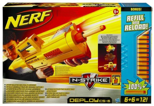 Image is loading NERF-Deploy-CS-6-Briefcase-Dart-Gun-with-