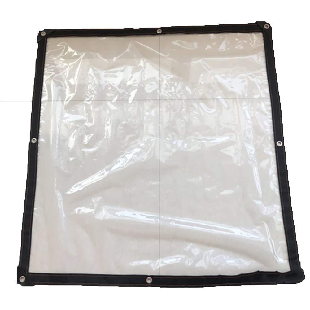 2X4m SAN_F BÂche en plastique pour la couverture végétale, feuille de sol anti-poussière transparente de PE recouvre le tissu versé pour les camions et les voitures thick 12mm d'épaisseur (Taille   4X6m)