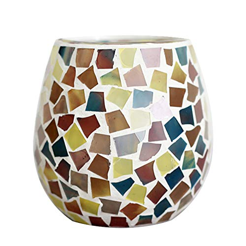 LH Round Tealight Candle Holder,Decorative Glass Votive Candle Holders for Living/Dinning Room Coffee Table Decor, Wedding/Birthday/Valentine Gifts(Multi-Colored) - Multi Tealight Holder