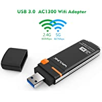 1300Mbps USB WiFi Adapter - Wavlink Dual Band AC1300 Wireless USB 3.0 Adapter - 2.4GHz 400Mbps/5Ghz 867Mbps WPS & Soft…