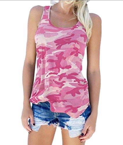 インフルエンザ正統派フォークTootess 女性の綿の特大のフィットしたベストファッション迷彩タンクトップシャツ
