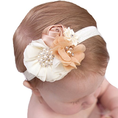 Miugle Baby Headbands and Bows (Boutique Ribbon Flower Bow Headband)