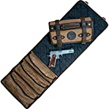 Handgun Cleaning MAT by Sage & Braker. Made from Waxed Canvas, Wool and Leather.