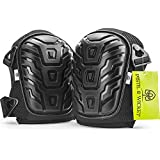 GARDENING KNEE PADS - Premium Professional, Comfortable Foam & Gel Cushion, Adjustable Straps, Easy Fix Clips - for Work in the Garden, Allotment, Home, DIY or Building, Flooring, Cleaning