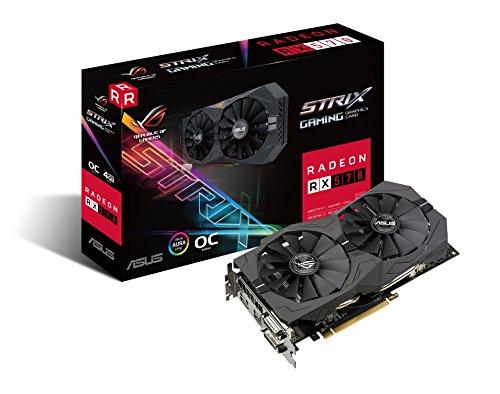 ASUS ROG Strix Radeon RX 570 O4G Gaming OC Edition GDDR5 DP HDMI DVI VR Ready AMD Graphics Card (ROG-STRIX-RX570-O4G-GAMING) by Asus