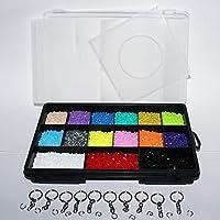 Estuche 8000 Mini Beads Base Llaveros Y Papel Hama Perler