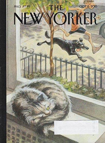 New Yorker cover de Seve 10.15 2015 windowsill cat eyes running dog - Cats Eyes Running
