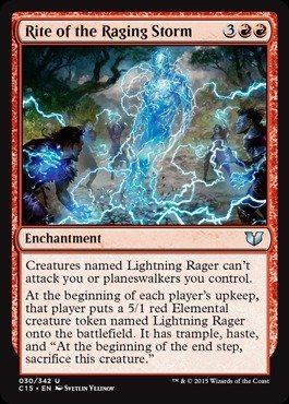 Magic: the Gathering - Rite of the Raging Storm (030/342) - Commander 2015
