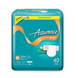 Assurance Stretch Briefs with Tabs, Ultimate Absorbency, Small/Medium, 40 Count (3 Packs)