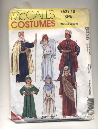 McCall's Sewing Pattern #8436: Children's Costumes: Biblical Characters, Wise Men, Magi, Mary, Angel, (Child Wise Man Costumes)