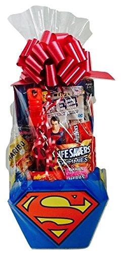 Superman Superhero Easter Basket Gift Bundle Pack in keepsak