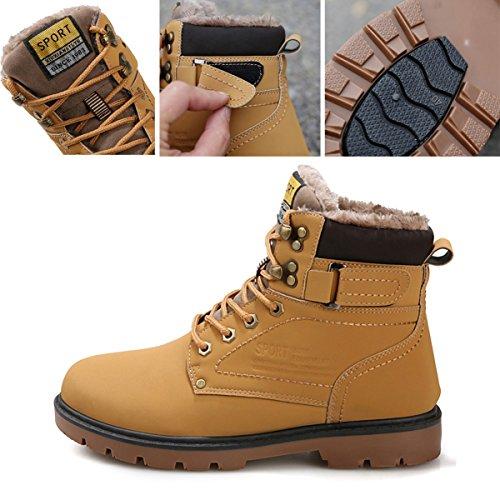 XSD(シンセイダイ)メンズワークブーツ防水ブーツスノーブーツレインシューズ防寒靴防寒シューズ大きいサイズイエロー28.0cm