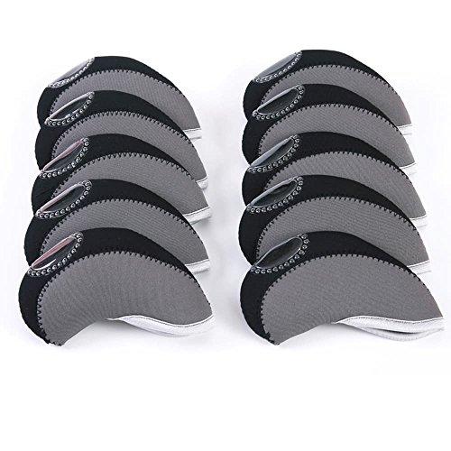 Iron Neoprene Headcovers - Carvesky Golf Head Covers, Wedge Neoprene Headcovers Protective for All Golf Club Iron, 10pcs/Set