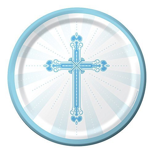 Blessings Blue 7-inch Paper Plates 18 Per Pack