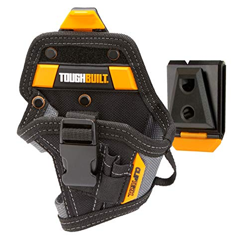 ToughBuilt - Drill Holster - Small - 5 Pockets, 3 Drill Bit Pockets, Compact Size - Heavy Duty Deluxe Holder (Patented ClipTech Hub & Work Belts) (TB-CT-20-S)