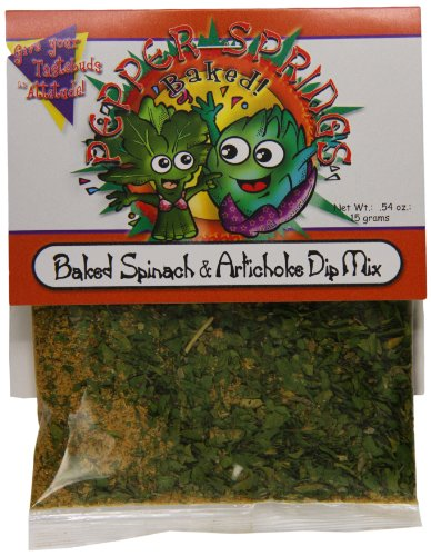 Mix Pepper Dip (Pepper Springs Baked Spinach And Artichoke Dip Mix, 0.54 Ounce)