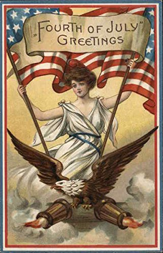 - Fourth of July Greetings 4th of July Original Vintage Postcard