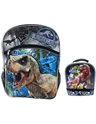 Universal Jurassic World Tyrannosaurus Rex 16 Backpack & Lunch Tote Set