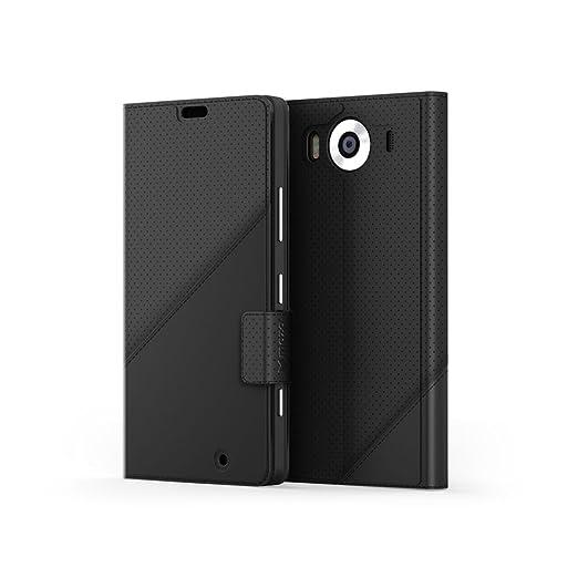 140 opinioni per Mozo 950TFBG Thin Flip Custodia per Microsoft Lumia 950, Nero