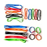 Grifiti Bands Cross Style 4, 6, 9, 12 Inch Assorted 20 Pack X Shape Wrist, Books, Cameras, Art, Cooking, Wrapping, Exercise, Bag Wraps, Game Boards, Puzzles, Silicone Rubber