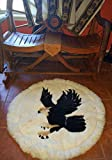 Rustic alpaca carpet decor handmade