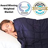 Hazli Supersoft 10 lb Weighted Blanket for Kids and Teens - 48'' x 72'' - Sensory Weighted Blanket - for 90 to 110 lb Child - 100% Cotton with Glass Beads