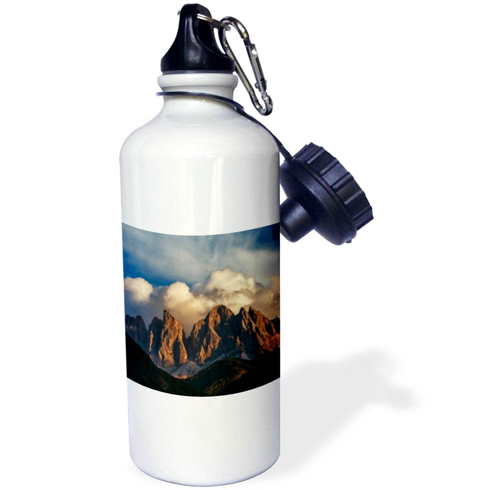 3dRose Danita Delimont - Mountains - Clouds drift over mountain peaks, Dolomites, Italy - 21 oz Sports Water Bottle (wb_277536_1)