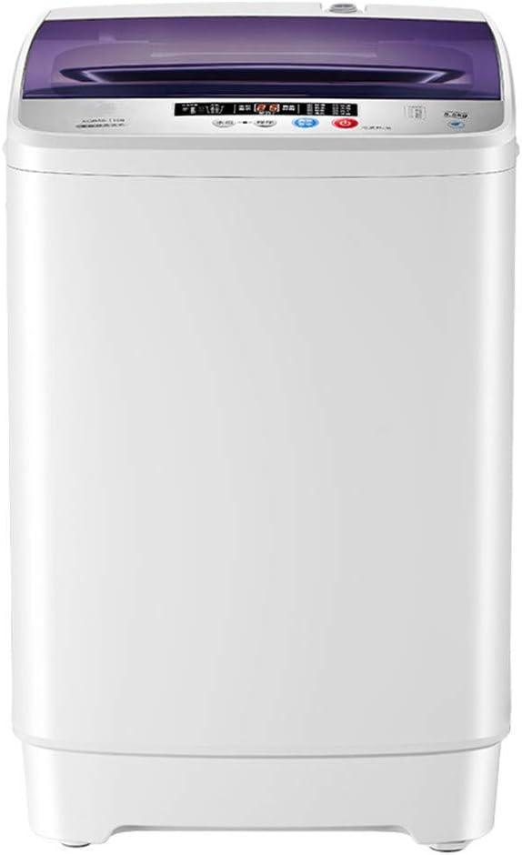 Lavadora portátil 2 en 1-6 modos, nivel de burbuja ajustable, compacta, lavadora totalmente automática, con bomba de drenaje, para apartamento, hotel, habitáculo (blanco) morado