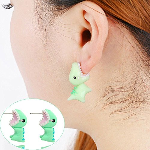 Handmade_Animal_Jewelry_Cartoon_3D_Ear_Stud_Dinosaur_Earrings_Polymer_Clay