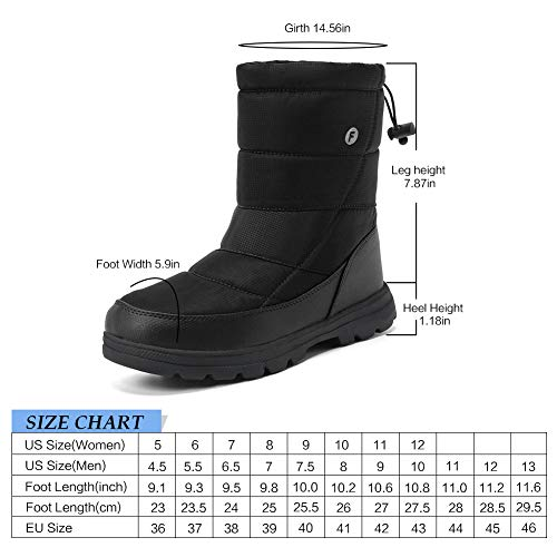 Pictures of Men and Women's Waterproof Snow Boot U118WXZ030 2