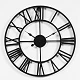 "LightInTheBox Rustic 3D Black Wall Clock Operated Battery 20"" Large Clock Non-Ticking"