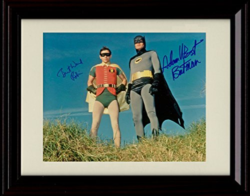 Framed Adam West & Burt Ward Autograph Replica Print - Batman & Robin