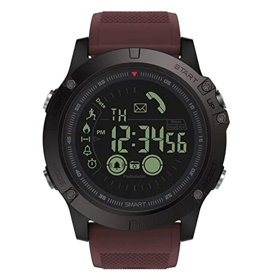 Amazing Military Grade Super Tough Smart Watch for Men (Red)