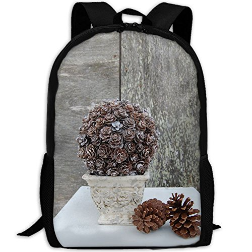 Pinecone Topiary Adult Travel Backpack School Casual Daypack Oxford Outdoor Laptop Bag College Computer Shoulder Bags (Pinecone Topiary)