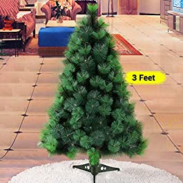 TIED RIBBONS Christmas Pine Tree 5 Feet Christmas Decoration for Home Office Restaurants