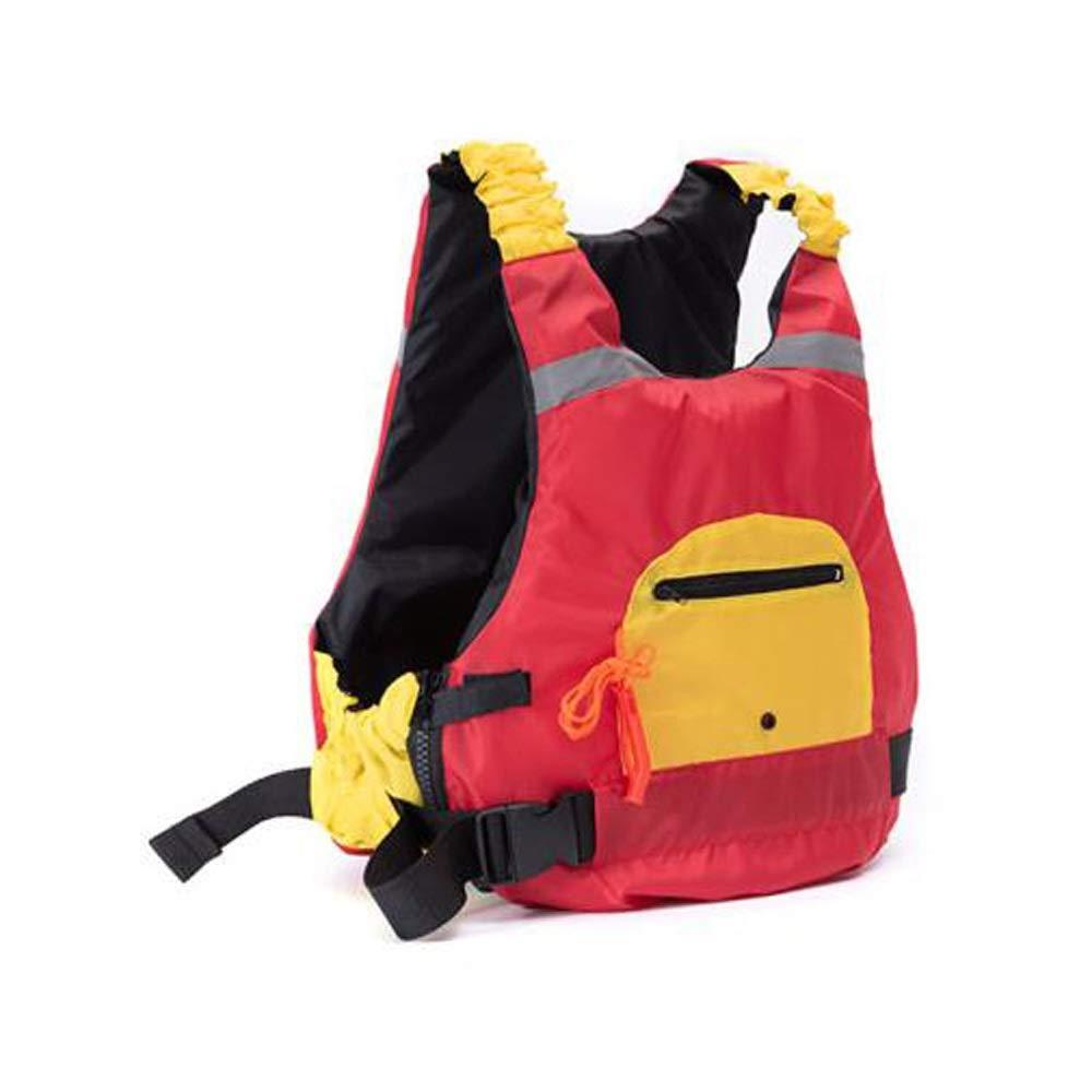 ライフジャケット、大人用ライフジャケット、黄色 (Color : 赤) 赤