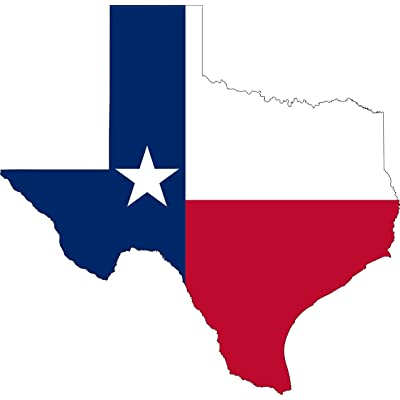 Rogue River Tactical Pack of 2 Large 7x7 Texas Car Decal Bumper Sticker Vinyl Flag Lone Star State Outline Car Truck Window RV Boat State (Flag Large 7x7): Automotive