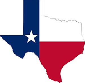 Rogue River Tactical Pack of 2 Large 7x7 Texas Car Decal Bumper Sticker Vinyl Flag Lone Star State Outline Car Truck Window RV Boat State (Flag Large 7x7)