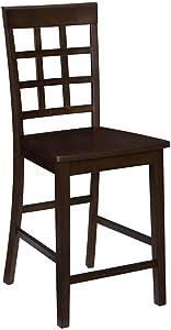 Progressive Furniture Kinston Window Pane Counter Chair (2/Ctn), Espresso