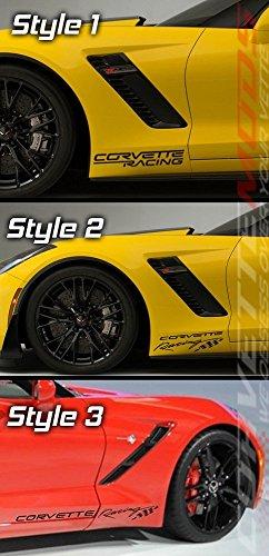 C7 Corvette Stingray/Z06/Grand Sport Lower Front Fender Decal - Corvette Racing - Pair Metallic Gold Style - Front Decal Fender