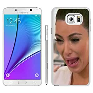 Kim Kardashian Crying Hilarious Face White Recommended Picture Custom Samsung Galaxy Note 5 Case