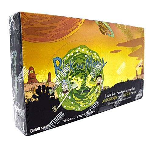 Rick and Morty Season 1 Trading Cards Display Box (Rick And Morty Universe In A Box)