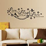 Decals Design 'Live Laugh and Love Family' Wall Sticker (PVC Vinyl, 60 cm x 45 cm, Black)