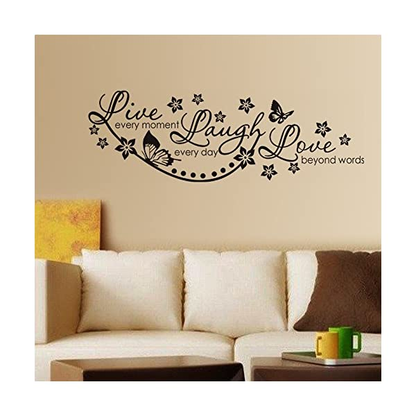 Live Laugh and Love Family PVC Vinyl Black Wall Sticker Decals Design