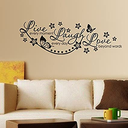 Buy Decals Design Stickerskart Wall Stickers Live Laugh And Love