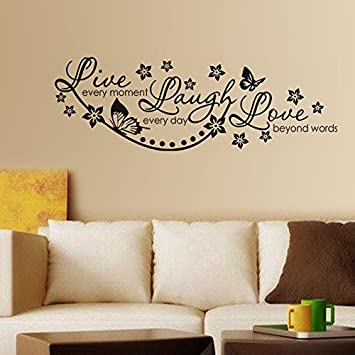Buy Decals Design Live Laugh and Love Family Wall Sticker PVC
