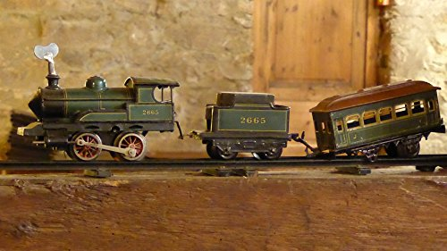 Home Comforts Framed Art for Your Wall Toys Play Antique Defect Railway Train Locomotive 10x13 ()