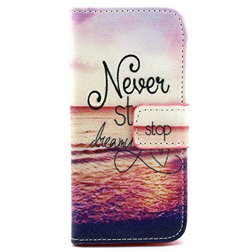 Price comparison product image iPod Touch 5th/6th Case, SAVYOU Premium PU Leather Wallet Flip Case with Built-in Card Slots, Cash Pocket, Magnetic Closure for Apple iPod Touch 5/6(Style9)