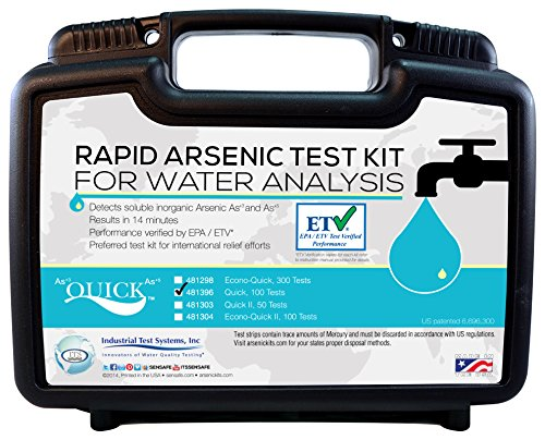 Industrial Test Systems Quick 481396 Arsenic for Water Quality Testing, 100 Tests, 12 Minutes Test (Water Testing Equipment)