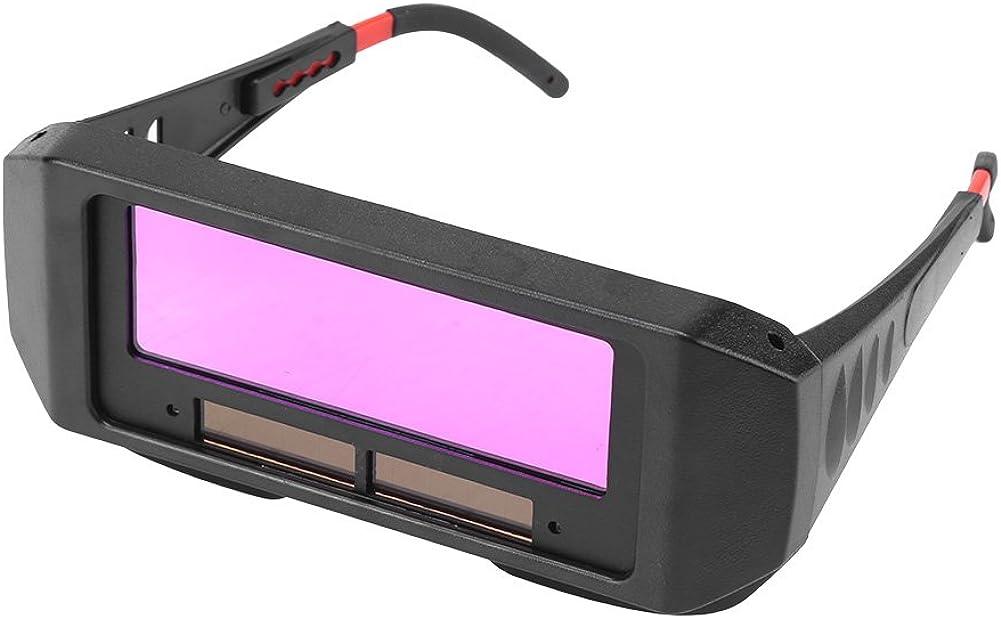 Lunettes de Soudeur, LCD Solaire Auto-assombrissement de Soudage Lunettes TIG MIG Lunettes Soudeur pour Protection les Yeux.